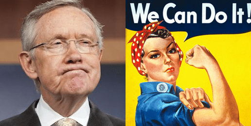 Tumultuary Harry Reid Insults Whites, Women and Justice Thomas