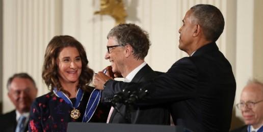 Obama Awards Abortion Activists Bill, Melinda Gates