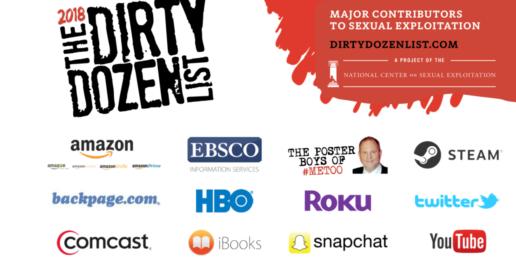 2018 Dirty Dozen List: 12 Leading Facilitators in Sexual Exploitation
