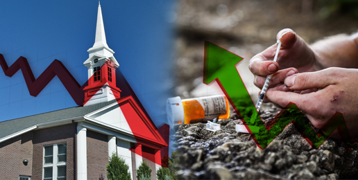 The Decline in Religious Faith is Having a Role in Nation's Drug Crisis