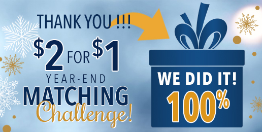 Wonderful News on Our Matching Challenge!